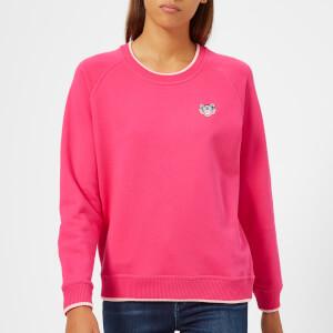 KENZO Women's Light Cotton Molleton Sweatshirt - Deep Fuchsia