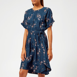 KENZO Women's Cheongsam Flower Dress - Navy Blue