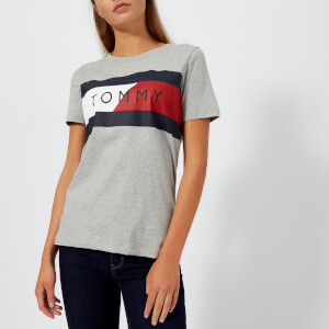 Tommy Hilfiger Women's Athleisure Elenor Crew Neck T-Shirt - Grey Marl