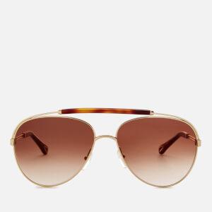 Chloe Women's Reece Aviator Style Sunglasses - Gold/Havana