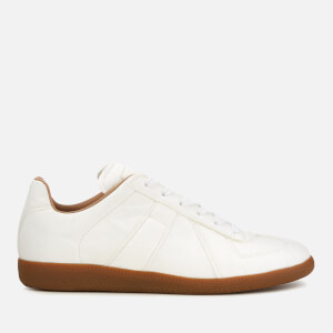 Maison Margiela Men's Replica Leather Paired Paper Low Top Trainers - White