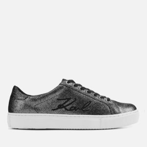 Karl Lagerfeld Women's Kupsole Signia Shimmer Low Top Trainers - Dark Grey