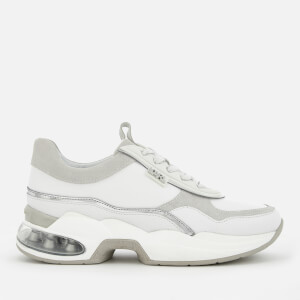 Karl Lagerfeld Women's Ventura Lazare Leather Runner Style Trainers - White
