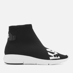 Karl Lagerfeld Women's Vitesse Knitted Sock Trainers - Black/White