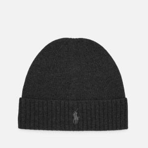Polo Ralph Lauren Men's Merino Wool Beanie Hat - Dark Charcoal Heather