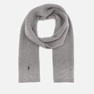 Polo Ralph Lauren Men's Merino Wool Scarf - Fawn Grey Heather