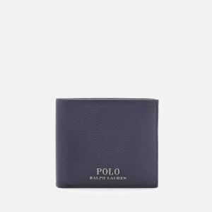 Polo Ralph Lauren Men's PRL Leather Billfold Wallet - Navy