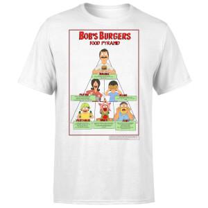 Bobs Burgers Bob's Food Pyramid Men's T-Shirt - White