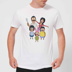 Bobs Burgers Family Looking Up Herren T-Shirt - Weiß
