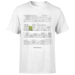 Bobs Burgers Street Plan Drawing Men's T-Shirt - White