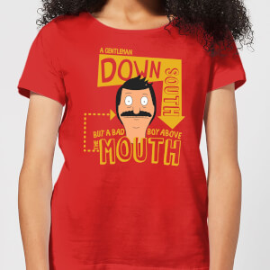Bobs Burgers A Gentleman Down South Women's T-Shirt - Red