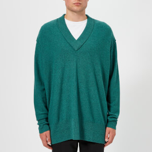 Maison Margiela Men's Gauge 12 Reverse Jersey Sweatshirt with External Seams - Petrol