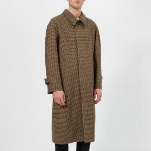 Maison Margiela Men's Houndstooth Felt Jacket - Walnut