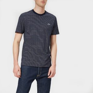 Lacoste Men's Geometric Dot Print T-Shirt - Navy Blue/Flour