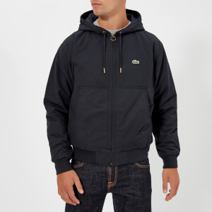 Lacoste Men's Hooded Bomber Jacket - Navy Blue