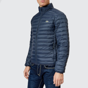 Lacoste Men's Quilted Nylon Jacket - Meridian Blue