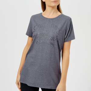 Superdry Women's MFG Gel Long Line T-Shirt - Badlands Blue Marl