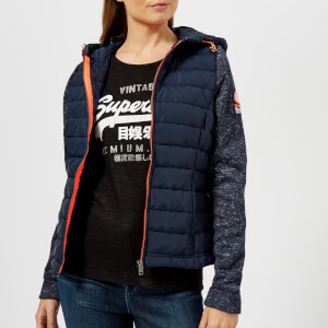 Superdry Women's Superdry Storm Hybrid Zip Hoody - Navy Blizzard/Navy
