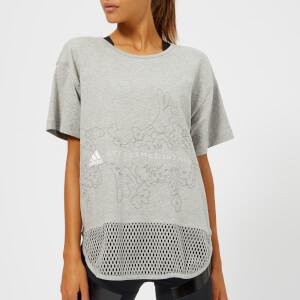 adidas by Stella McCartney Women's Essential Graphic Short Sleeve T-Shirt - Medium Grey Heather