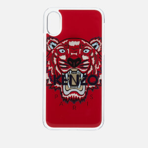 KENZO Men's Tiger Silicone iPhone X Case - Medium Red