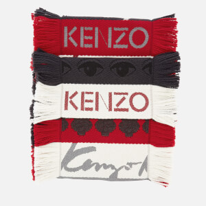 KENZO Men's Chunky Multi Icons Scarf - Multicolour