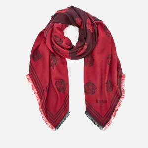 KENZO Tiger Heads Square Scarf - Bordeaux