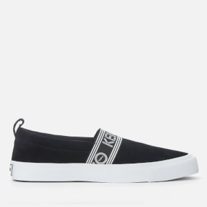 KENZO Men's Kapri Suede Slip On Trainers - Black