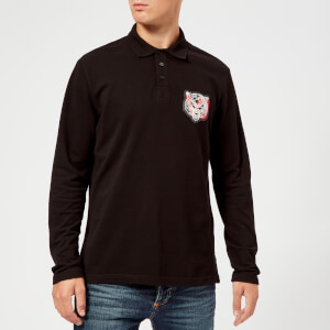 Versace Jeans Men's Long Sleeve Polo Shirt - Black