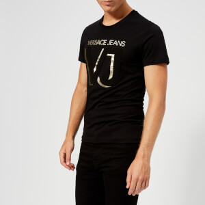 Versace Jeans Men's VJ Chest Logo T-Shirt - Black