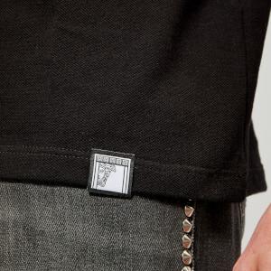Versace Collection Men's Collar Detail Polo Shirt - Nero: Image 4