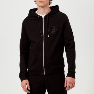 Versace Collection Men's Zip Up Hoodie - Black