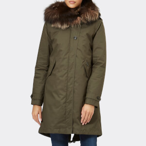 Woolrich Women's Literary Silver Fox Parka - Military Olive