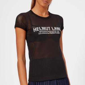 Helmut Lang Women's Mesh Logo Baby T-Shirt - Black