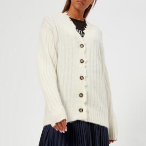Helmut Lang Women's Brushed Wool Cardigan - Ivory
