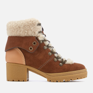 See By Chloé Women's Heeled Hiking Boots - Brown