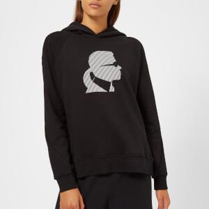 Karl Lagerfeld Women's Ikonik Karl Head Hoody - Black