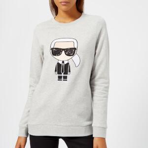 Karl Lagerfeld Women's Karl Ikonik Sweatshirt - Grey