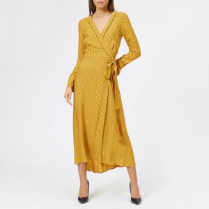 Bec & Bridge Women's Sun Valley Long Sleeve Dress - Spot Print Mustard