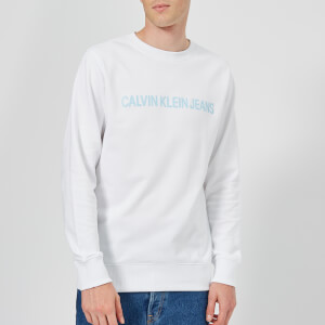 Calvin Klein Jeans Men's Institutional Logo Sweatshirt - Bright White