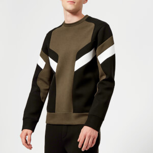 Neil Barrett Men's Modernist Bonded Soft Sweatshirt - DkTau/Black/Off White
