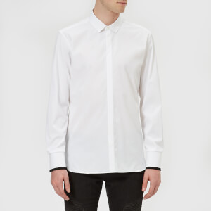 Neil Barrett Men's Bomber Sleeve Shirt - Travel Popeline Shirt - White/Black