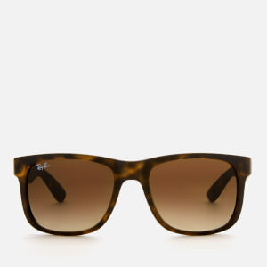 Ray-Ban Men's Justin Square Frame Sunglasses - Rubber Light Havana