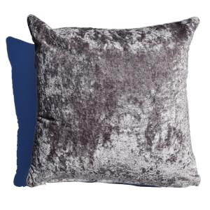 Rapport Crushed Velvet Cushion - Pewter
