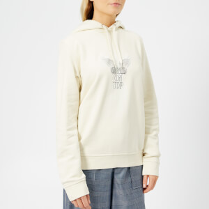 Ganni Women's Lott Isoli Hooded Sweatshirt - Egret