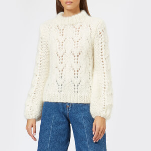 Ganni Women's The Julliard Mohair Jumper - Egret
