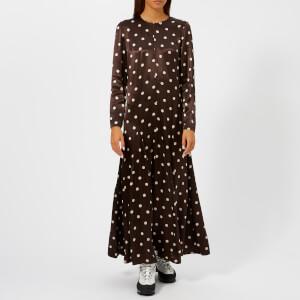 Ganni Women's Cameron Dress - Ganache