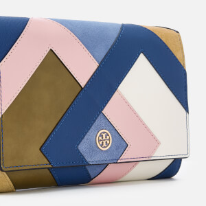 Tory Burch Women's Robinson Pieced Chain Wallet - Bright Navy/Multi: Image 4