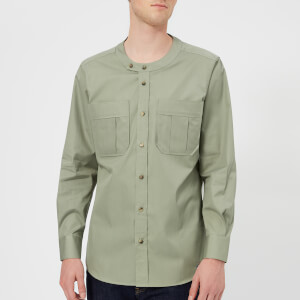 Vivienne Westwood Men's Firm Poplin Military Low Neck Shirt - Sage Green