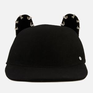 Karl Lagerfeld Women's Choupette Chain Cap - Black
