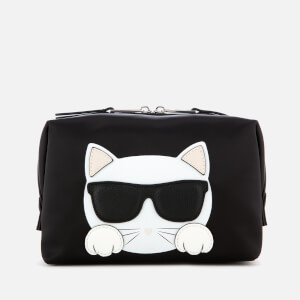 Karl Lagerfeld Women's K/Ikonik Choupette Wash Bag - Black